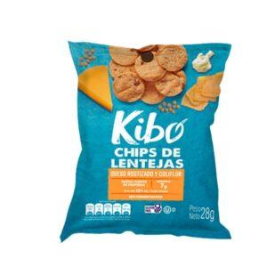 Chips de Lentejas sabor a Queso Rostizado y Coliflor KIBO x 28 Gramos