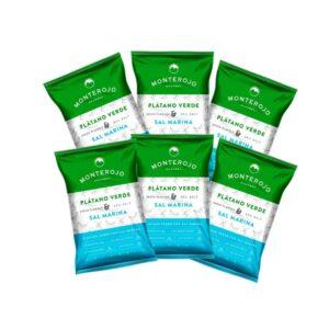 Platano Verde Sal Marina MONTERJO 6 pack x 25 Gramos